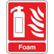 Fire safety sign - Fire Foam 085